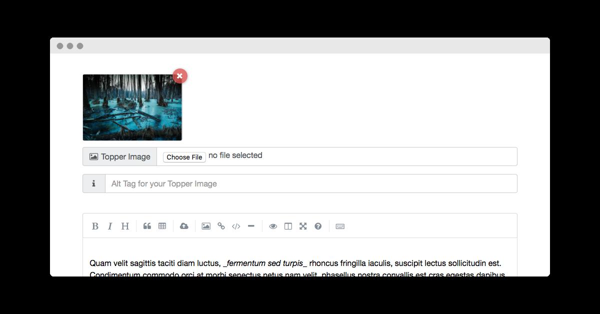 Image Uploads button