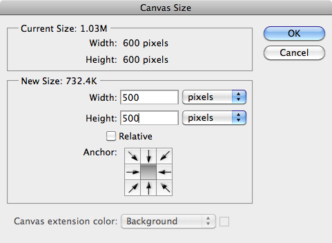 Canvas Size